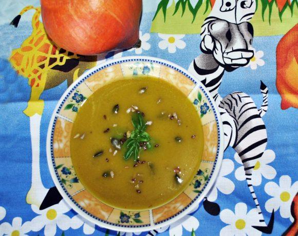 Detská tekvicová polievka s kokosovým mliekom
