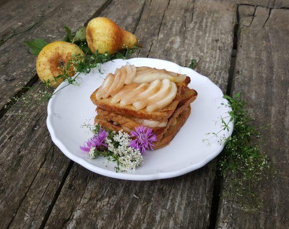 Francúzsky toast s hruškami