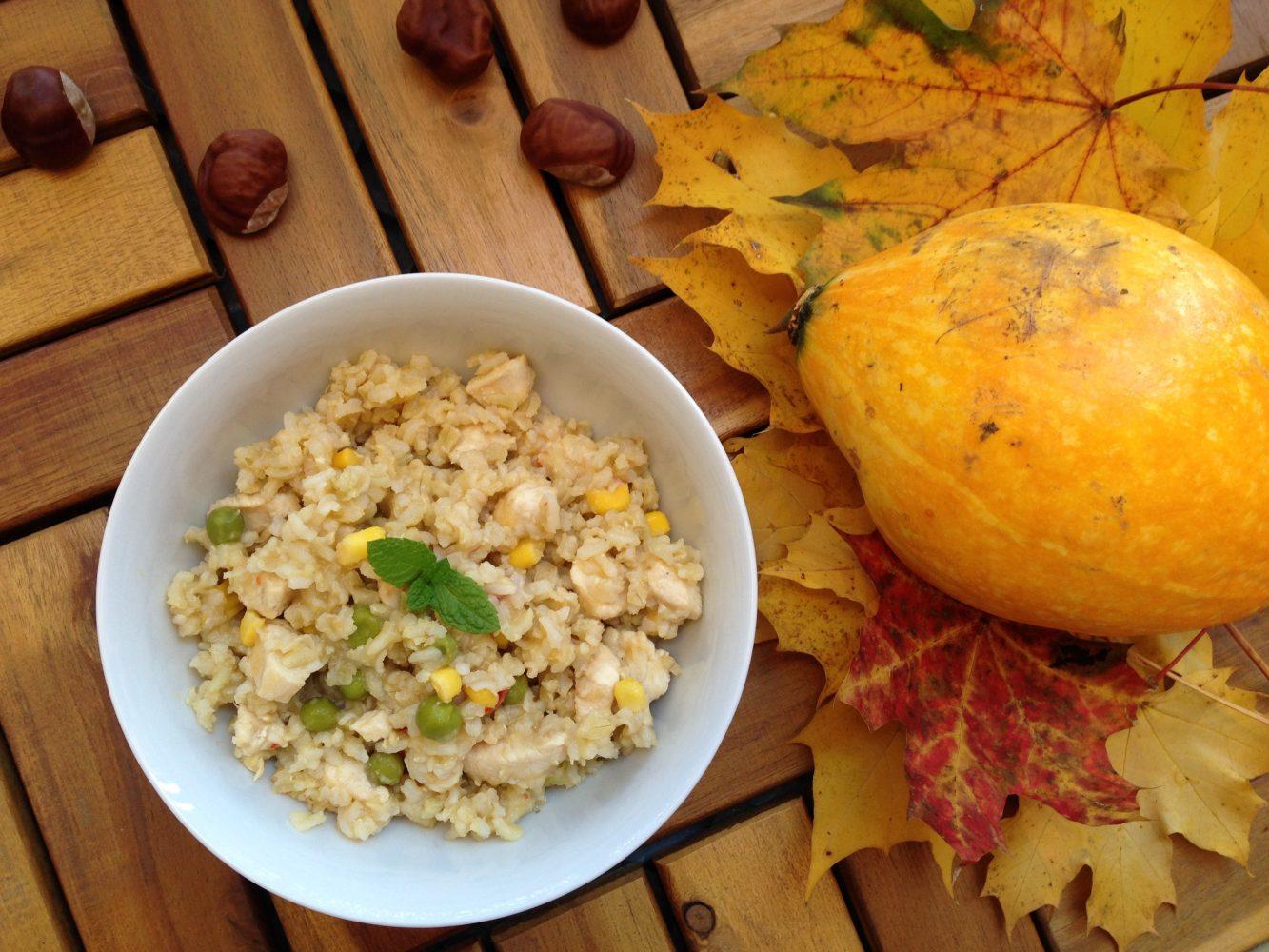 Jesenná verzia rizota - rizoto s tekvicou