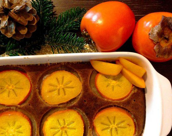 Lahodný vianočný hurmikaki koláčik