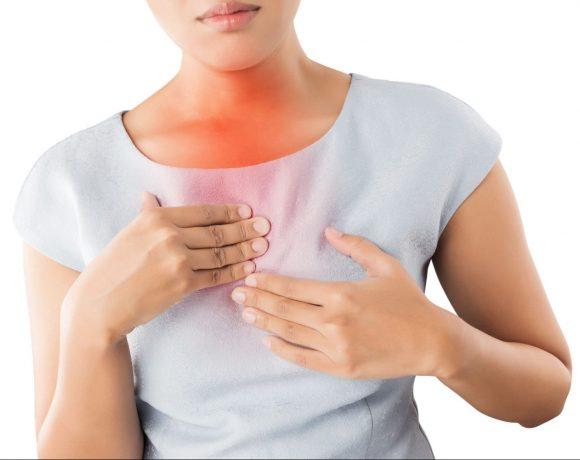 Pálivá bolesť v oblasti hrudníka